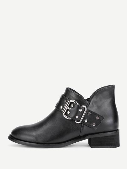 Stivali di PU con tacco