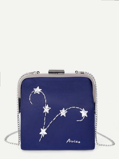 Rhinestone Star Decorated Chain Bag