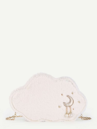 Moon Pattern Clouds Shaped Chain Bag