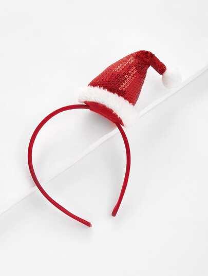 Diadema navideña con sombrero de navidad