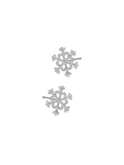 Christmas Hollow Snowflakes Design Stud Earrings