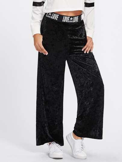 Pantalones de terciopelo con pernera ancha