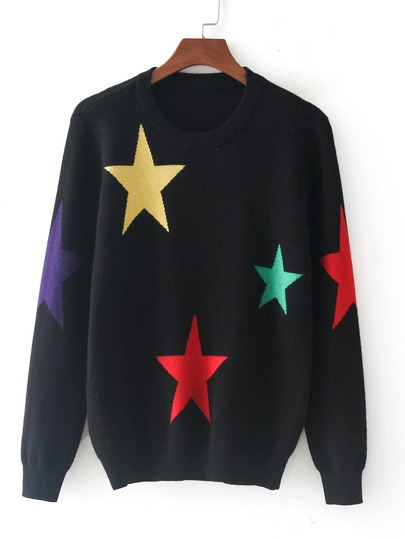 Star Pattern Jersey Jumper