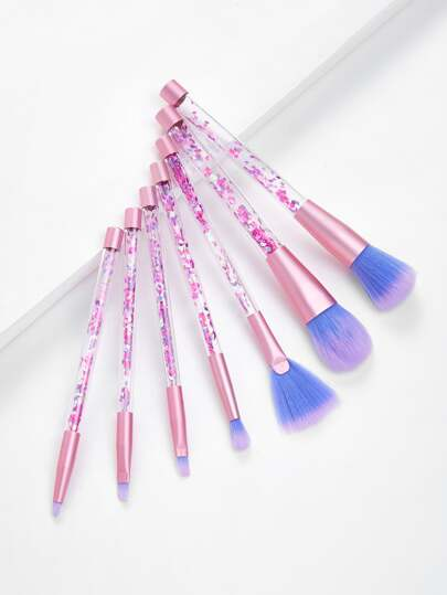 Quicksand Handle Makeup Brush Set 7pcs