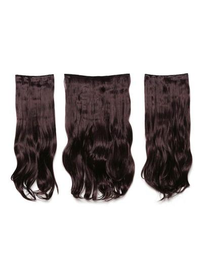 Plum Clip In Soft Wave Hair Extension 3pcs