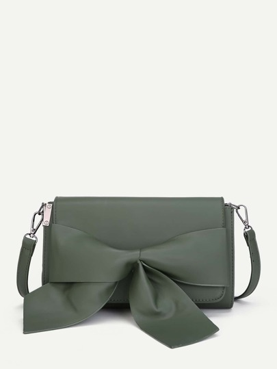 Bow Front PU Crossbody Bag