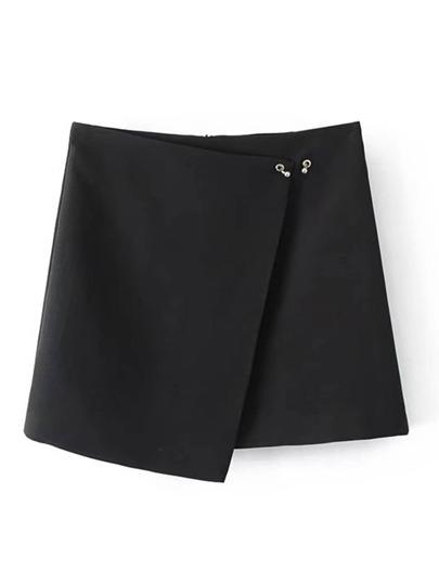 Ring Detail Wrap Skirt