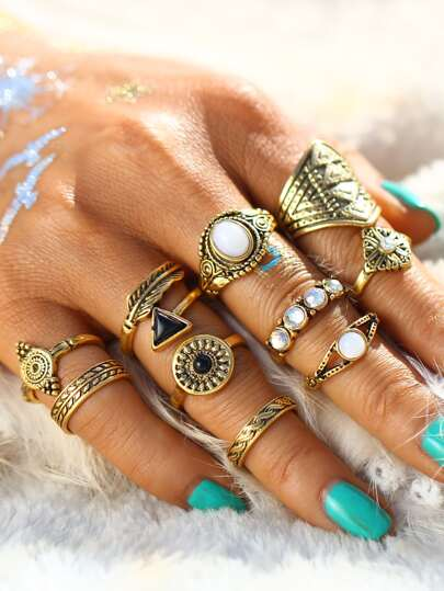 Retro Ring Pack 10pcs