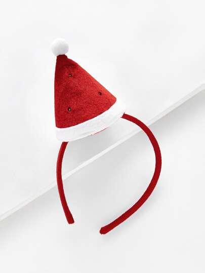 Bandeau avec chapeau de Noël