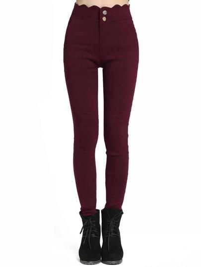 Scalloped Skinny Pants