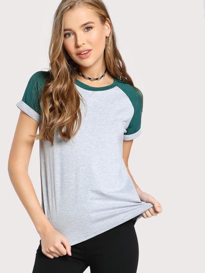 Raglan Camicia maniche - grigio