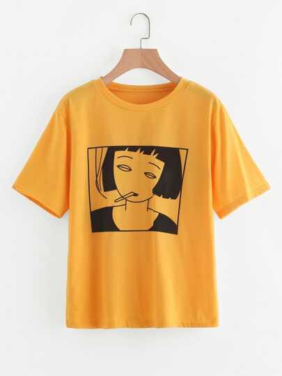 T-shirt da stampa ragazza