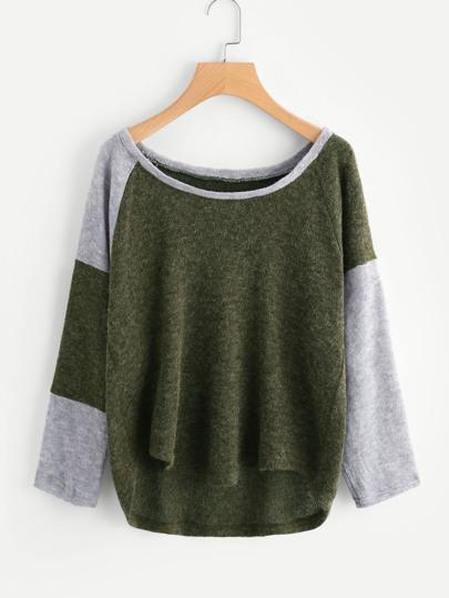 Maglione di blocco di colore