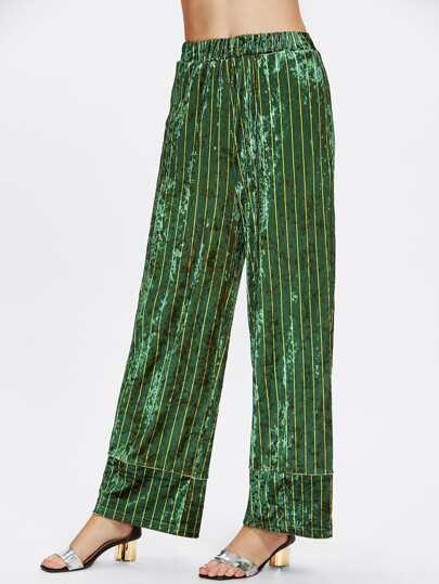 Pantalones de terciopelo a rayas