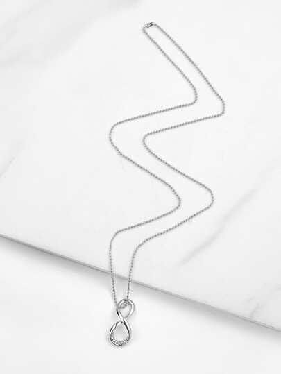 Open Twist Pendant Necklace