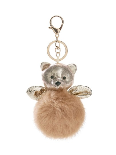 Porte-clés de l\'ours & pompon