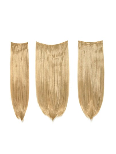 Honey Blonde Clip In Straight Hair Extension 3pcs