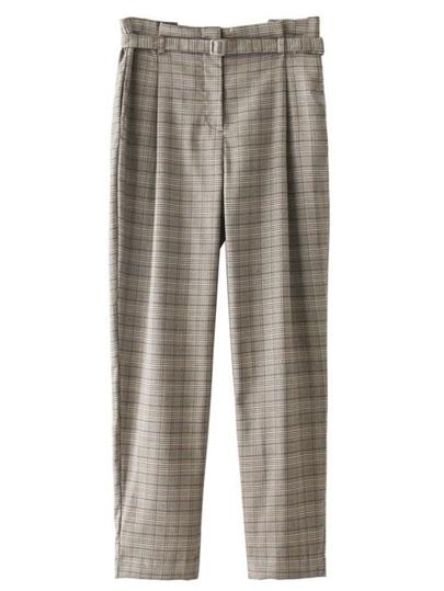 Pantalons à carreaux avec lacet