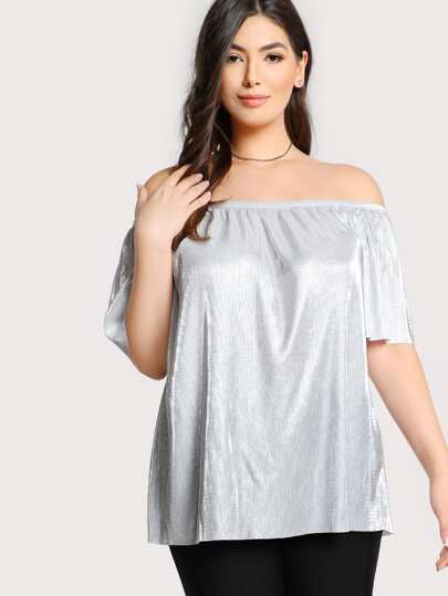 Off Shoulder Reflective Top