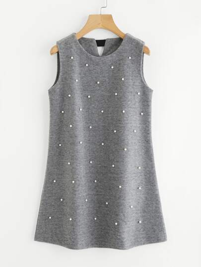 Pearl Beaded Sleeveless Dress