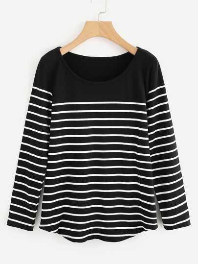 Striped Loose T-shirt