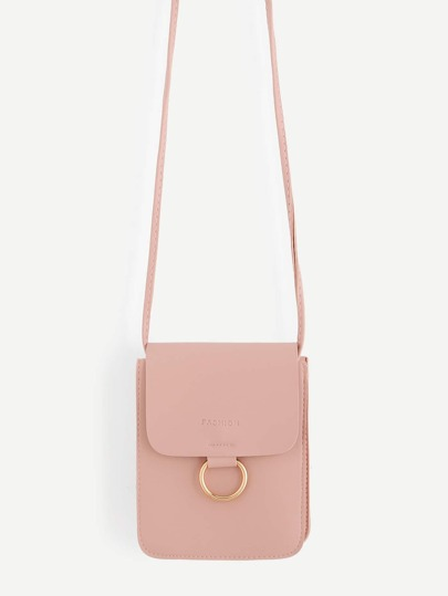 Ring Front Flap Pouch Bag