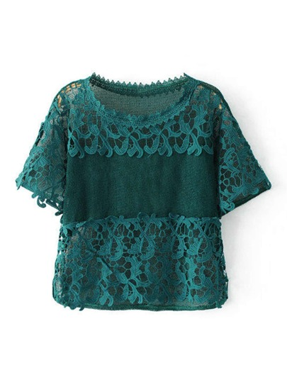 Top all\'uncinetto in pizzo