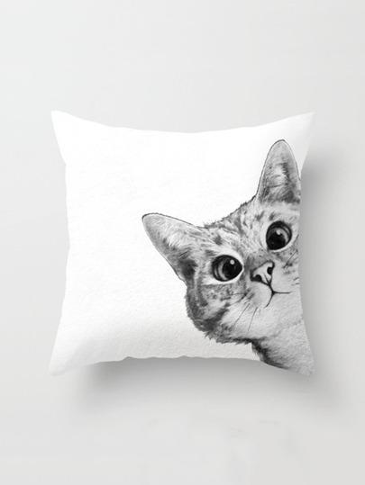 القط طباعة غطاء وسادة