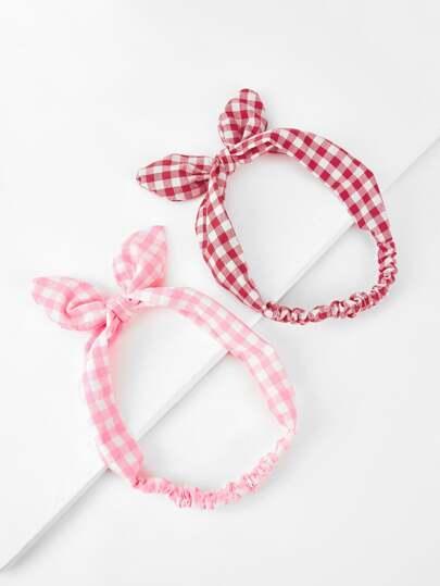 Stirnband mit Schleife Knoten 2pcs