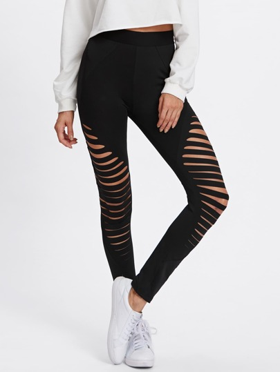 Cut Out Empire Skinny Leggings