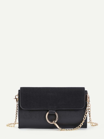 Piping Detail Ring Front Chain Bag