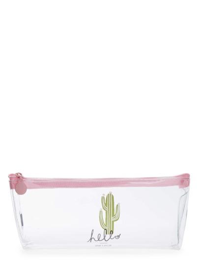 Sac transparent imprimé cactus
