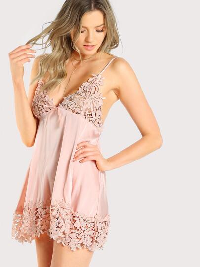 Guipure Lace Panel Nightdress