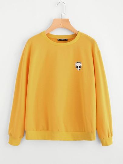 Sweat-shirt avec applique d'alien