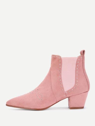 Rhinestone Detail Chelsea Boots
