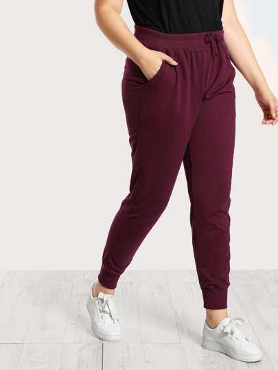 Drawstring Sweatpants WINE