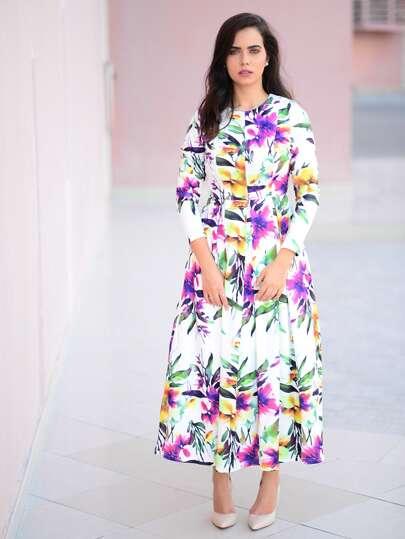 Vestito a fiori Multicolore