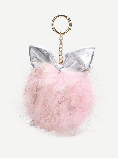 Accesorio de bolso con diseño de oreja y pompón