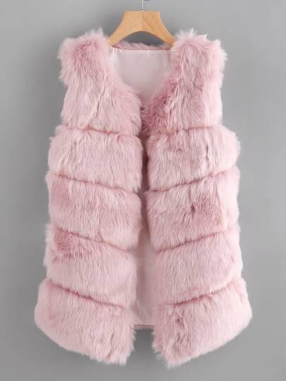 Cappotto in pelliccia ecologica