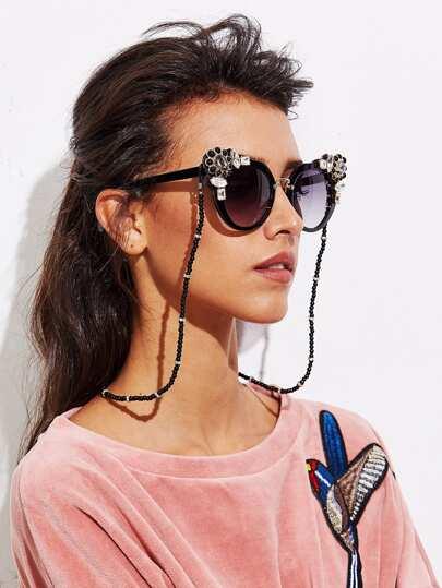 Cadena de gafas con abalorios