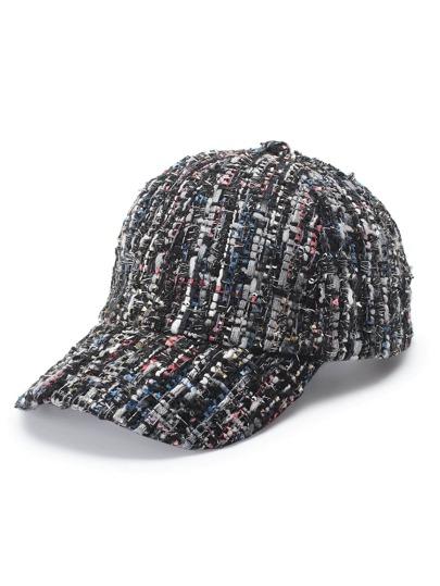 Gorra de béisbol tweed