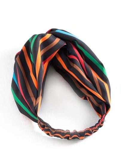 Stirnband mit Streifen und Twist