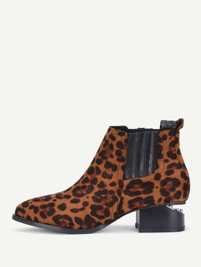 Leopard Chelsea Boots