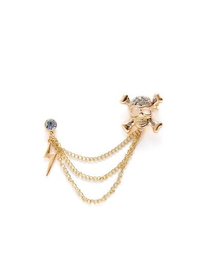 Skeleton & Flash Design Brooch