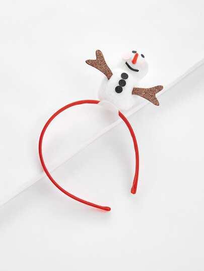 Bandeau de Noël avec design de bonhomme de neige