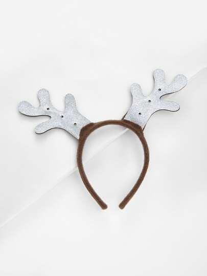 Diadema navideña con cuerno del alce
