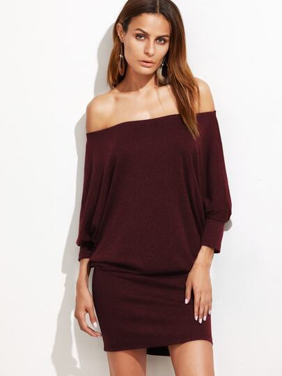 Off Shoulder Blouson Dress