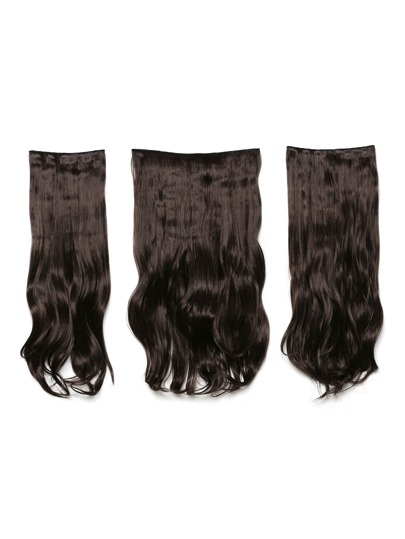 Choc Brown Clip In Soft Wave Hair Extension 3pcs