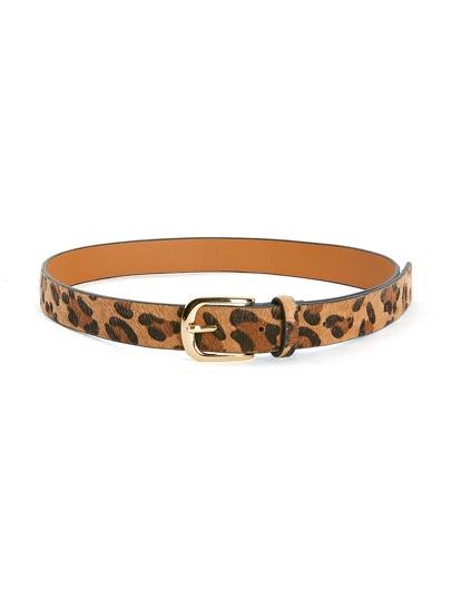 Cinturón leopardo con diseño de hebilla