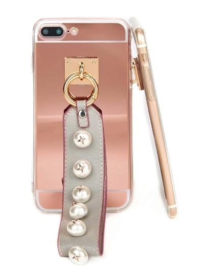 Funda de móvil con adorno de perla